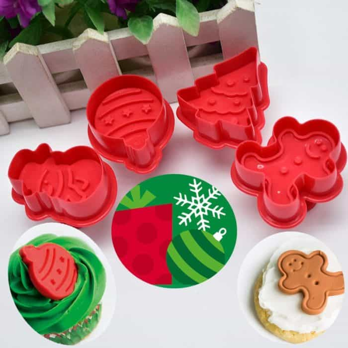 Christmas Cookie Cutters Baking Mold 4pcs/set