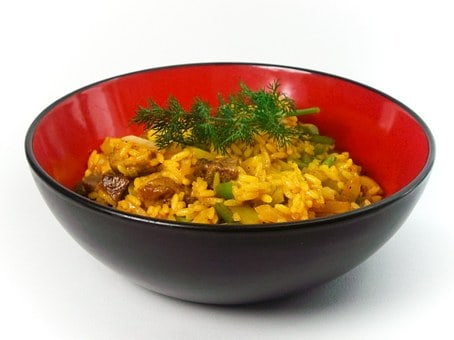 Vegetarian Rice Bowl With Chickpeas